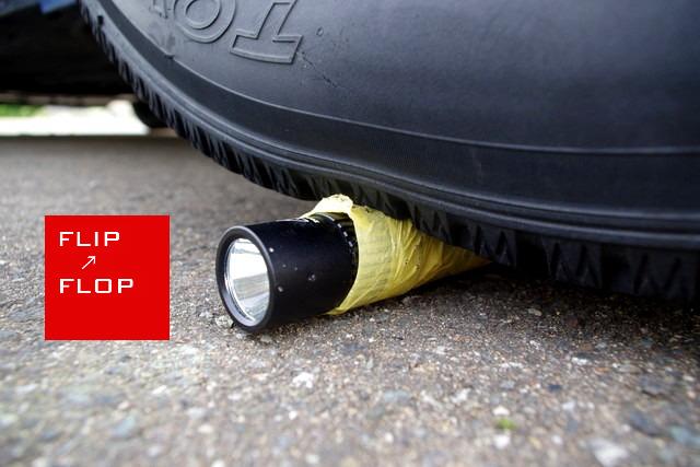 zanflare F1 USB 充電式ライト 車で踏んでも壊れない
