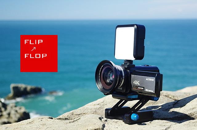 ACTITOP 4Kビデオカメラ イワゴーモードでねこを撮る!