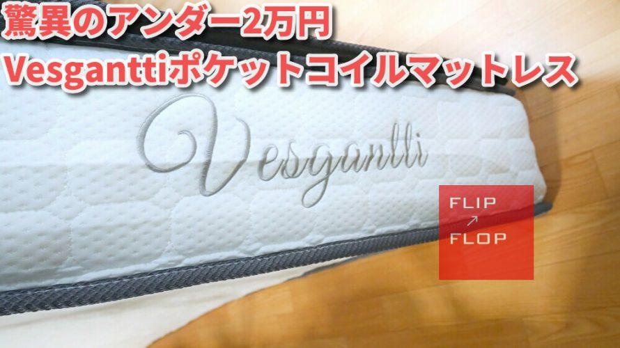1年使って2つ目導入 Vesgantti極厚28cmシングルマットレス